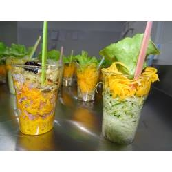 Verrine de légumes crus